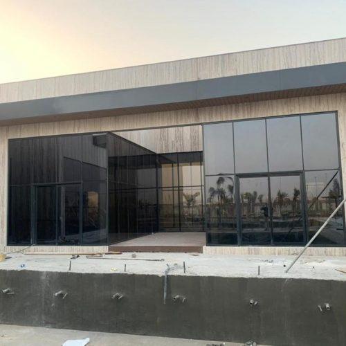 CURTAIN WALL GLAZING VILLA WORK IN ABU DHABI